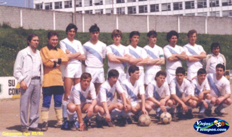 Sociedad Cultural Deportiva Recreativa Galicia de Caranza. 1985 - 1986