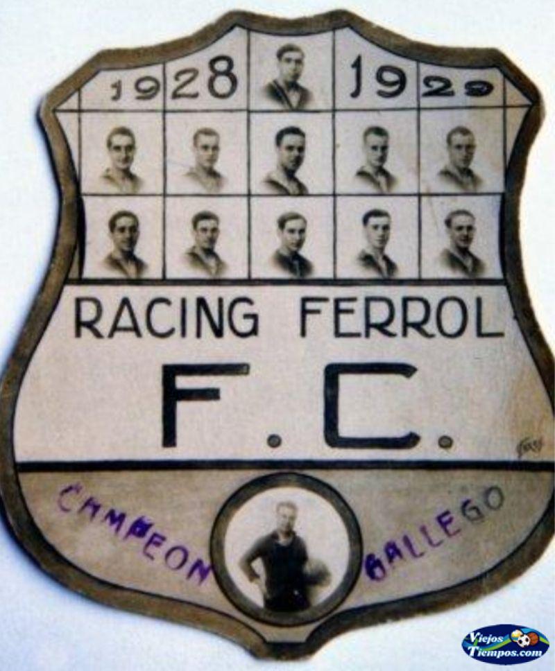 Racing Ferrol Foot-ball Club. 1928 - 1929